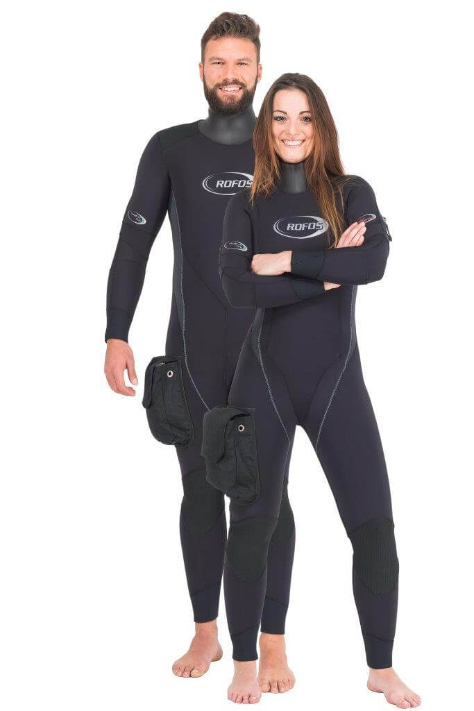 Neoprene semi-drysuit